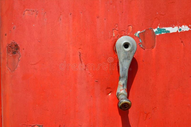 Detail van oude roestige benzinepomp royalty-vrije stock fotografie
