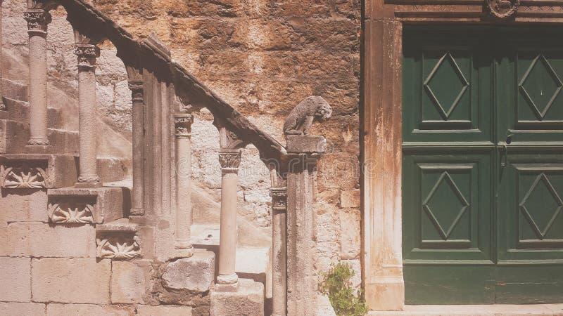 Detail van oude stad stock afbeelding