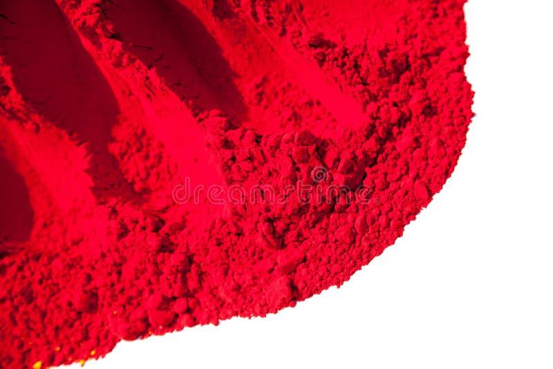 Detail van rode kleur voor holi stock foto