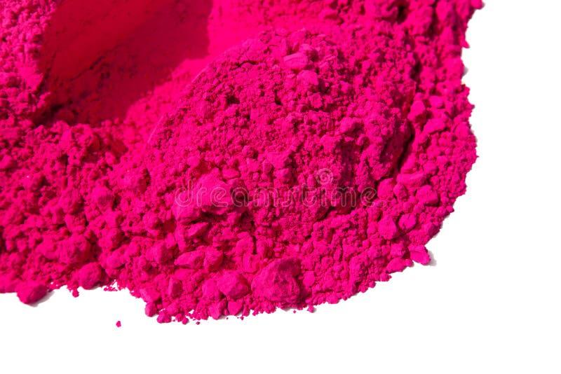 Detail van roze kleur voor holi stock afbeeldingen