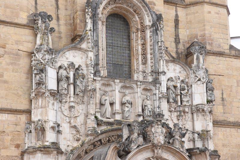 Detail van Santa Cruz Monastery, Coimbra, stock fotografie