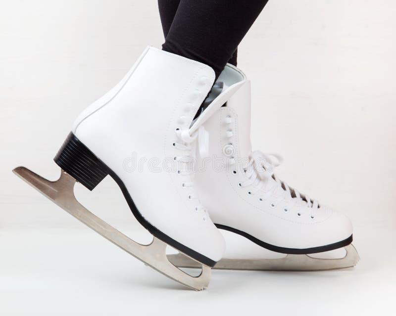Detail van schaatsen stock afbeeldingen