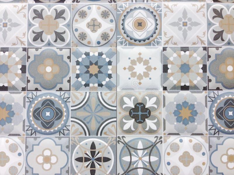 Detail van sommige typische Portugese tegels stock fotografie