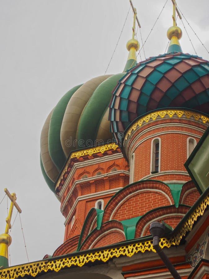 Detail van St Basil& x27; s Kathedraal in Moskou Rusland stock fotografie
