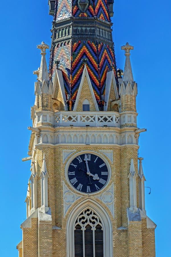 Detail van St Mary Cathedral, Novi Sad, Servië stock fotografie
