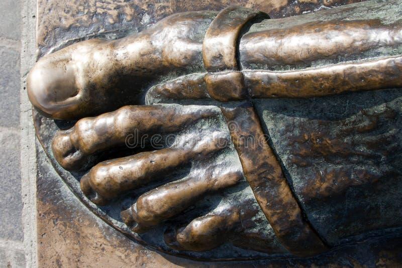 Detail van standbeeld van Gregory van Nin stock afbeelding