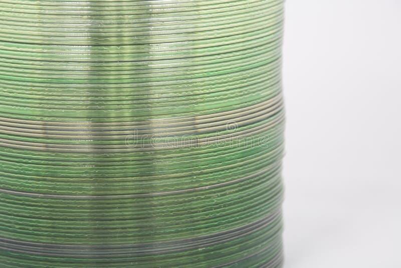Detail van stapel cds royalty-vrije stock afbeeldingen