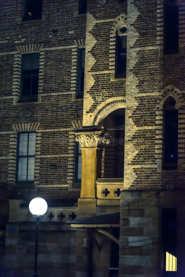Detail van Sydney Hospital-de bouw, Sydney, NSW, Australië royalty-vrije stock afbeeldingen