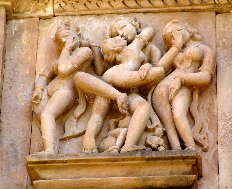 Detail van tempels in Khajuraho, India royalty-vrije stock foto's