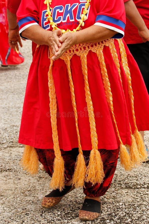 Detail van traditionele Tongaanse rok stock foto's