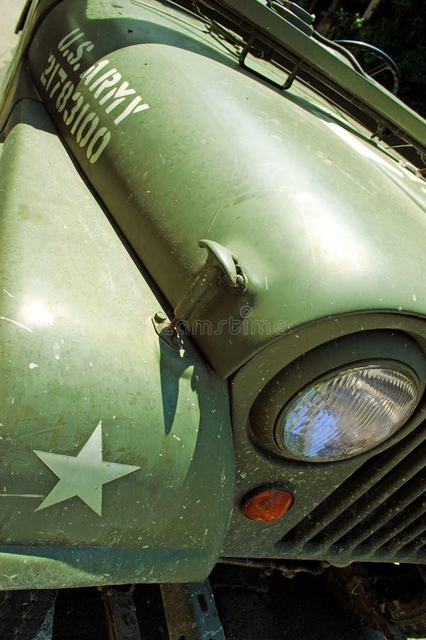 Detail van uitstekende oude de tijdopnemerauto van Jeep Willys royalty-vrije stock foto's