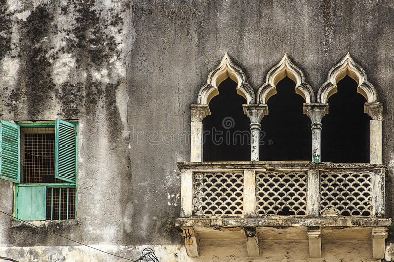Detail van venster & portalen - Zanzibar stock fotografie