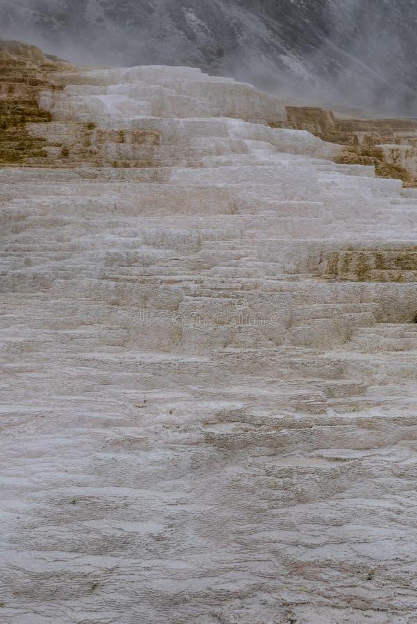 Detail van Wit Residu op de Mammoet Hete Lentes royalty-vrije stock foto's