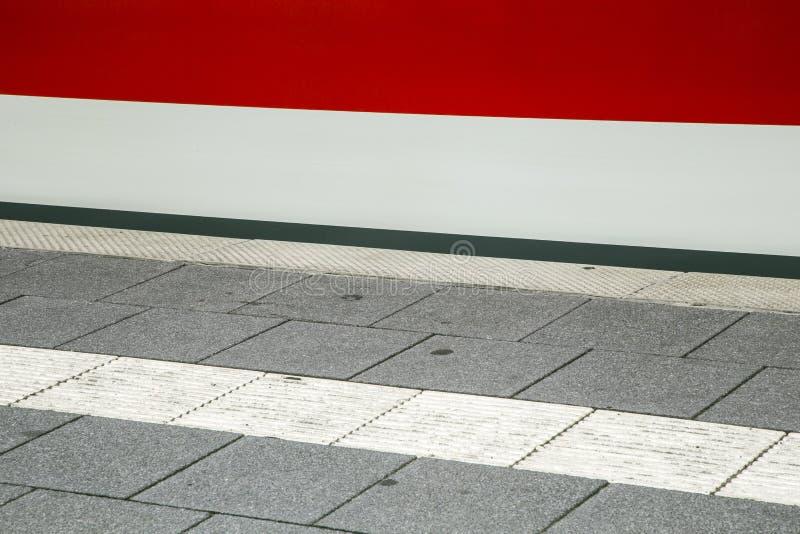 Detail van zich trein het snelle bewegen bij post royalty-vrije stock foto