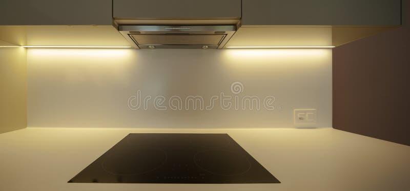 Detail van zwarte elektrische kooktoestellen stock foto's