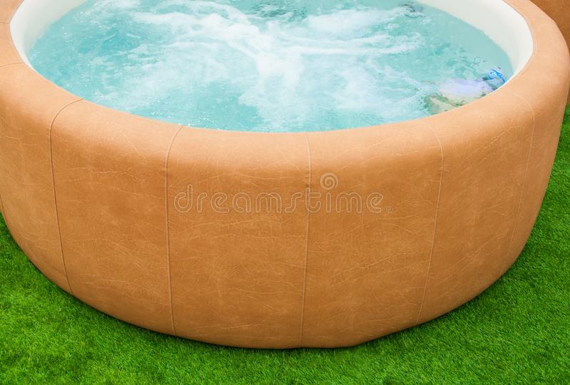 Closeup of hot tub stock images