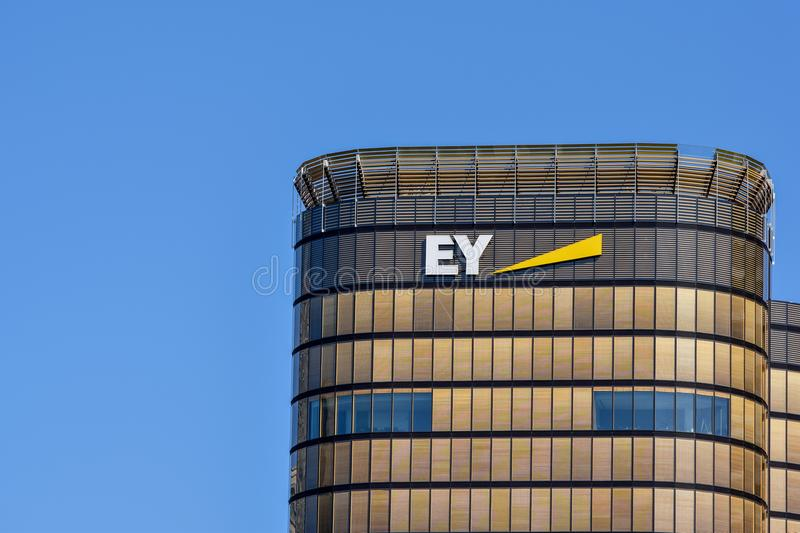 Detail view of the new EY Ernst &Young Australia headquarter building royalty free stock photos