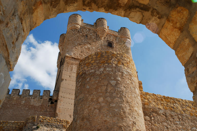 Detail Of Villena Castle, Alicante, Spain Stock Photo