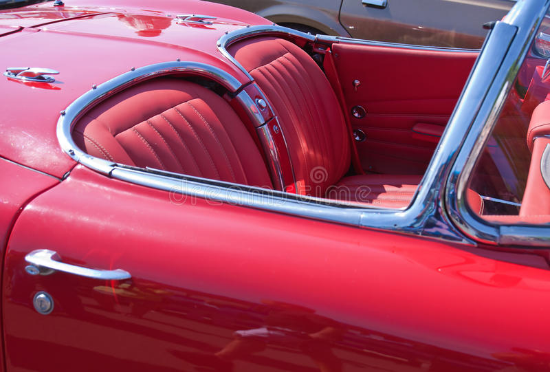 Detail of vintage car stock photos
