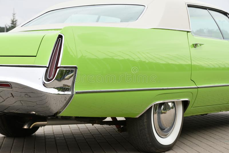 Detail of a vintage car royalty free stock photography