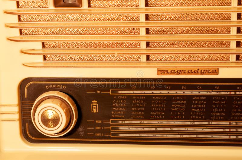 Detail of a vintage radio. Music on air. detail of a vintage radio , still life royalty free stock photo