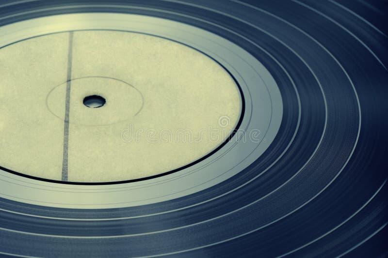 Detail vinyl record, vintage toning stock image