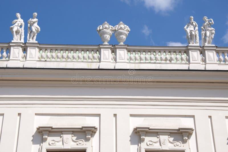Detail vom oberen Belvedere-Palast in Wien lizenzfreie stockfotos
