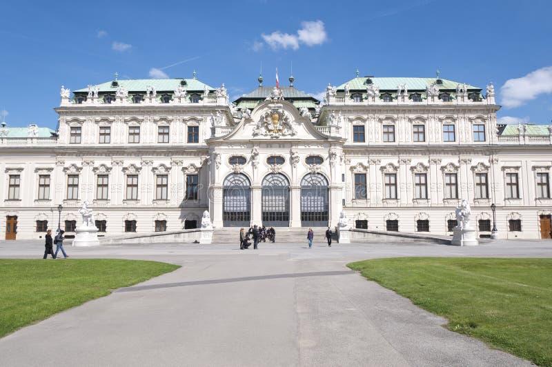 Detail vom oberen Belvedere-Palast in Wien stockbild