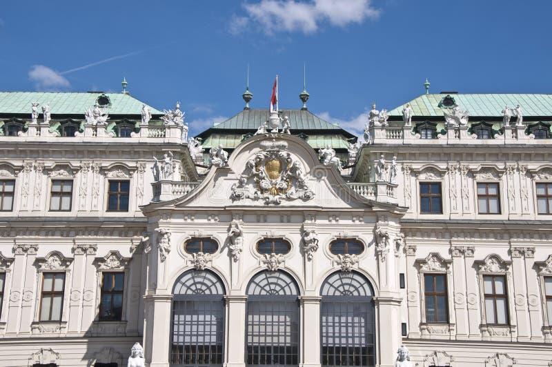 Detail vom oberen Belvedere-Palast in Wien lizenzfreies stockfoto