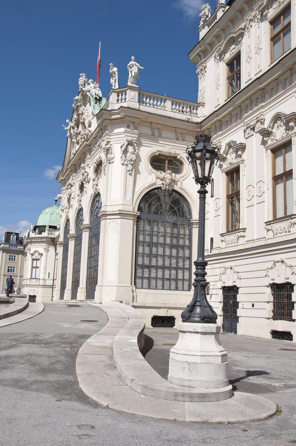 Detail vom oberen Belvedere-Palast in Wien stockbilder