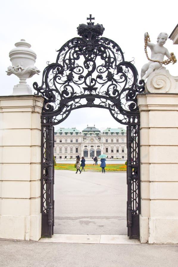 Detail vom oberen Belvedere-Palast in Wien lizenzfreies stockbild