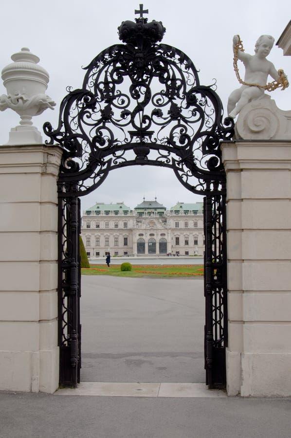 Detail vom oberen Belvedere-Palast in Wien stockfoto