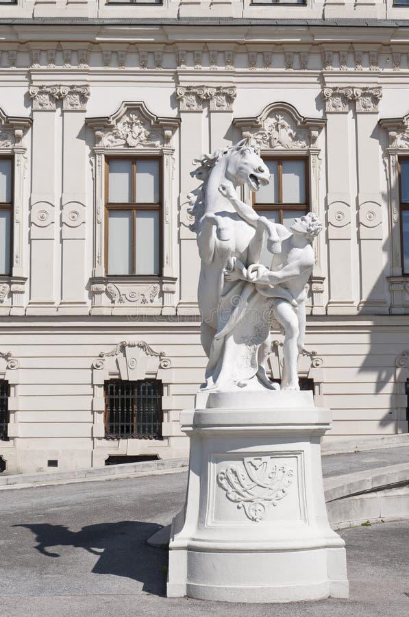 Detail vom oberen Belvedere-Palast in Wien lizenzfreie stockbilder