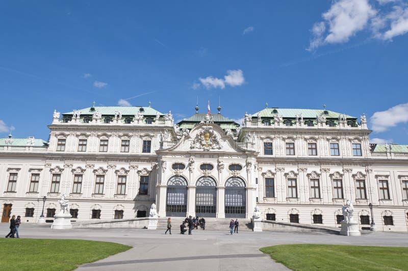 Detail vom oberen Belvedere-Palast in Wien stockfotografie