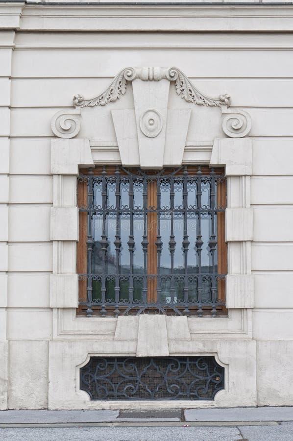Detail vom oberen Belvedere-Palast in Wien lizenzfreie stockfotografie
