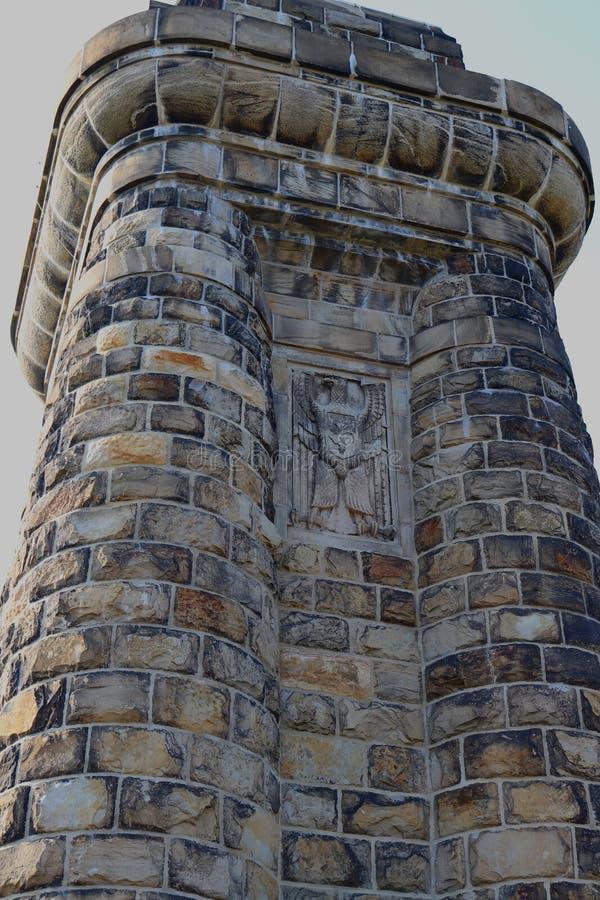 Detail von Bismarckturm an der Stadt von Hagen, Deutschland lizenzfreie stockfotos