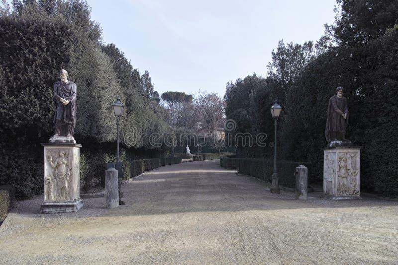 Detail von boboli Garten lizenzfreie stockbilder