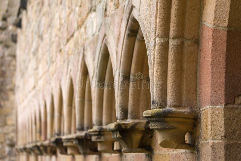 Detail von Bolton-Abtei in den Yorkshire-Tälern stockfoto