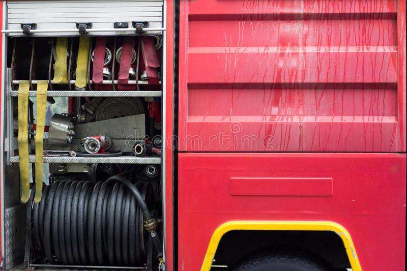 Detail von Firetruck lizenzfreies stockfoto