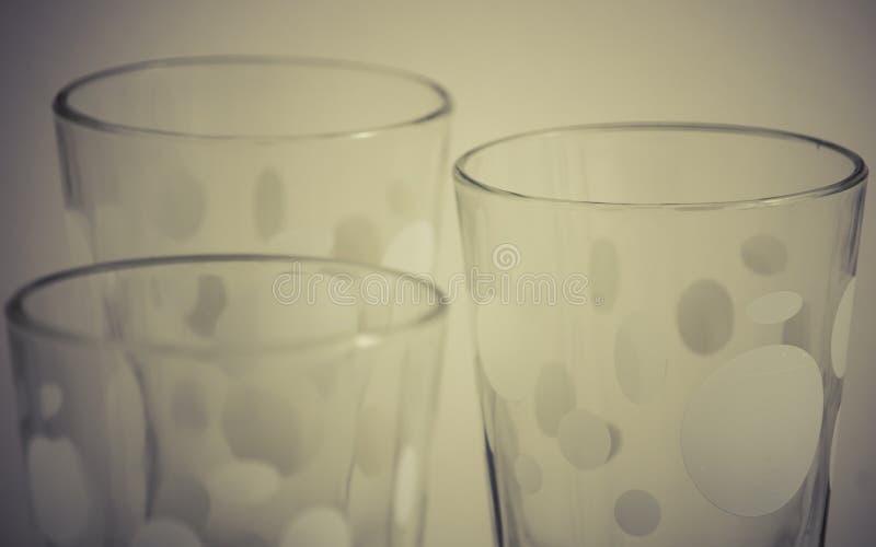 Detail von Glasschalen lizenzfreies stockfoto