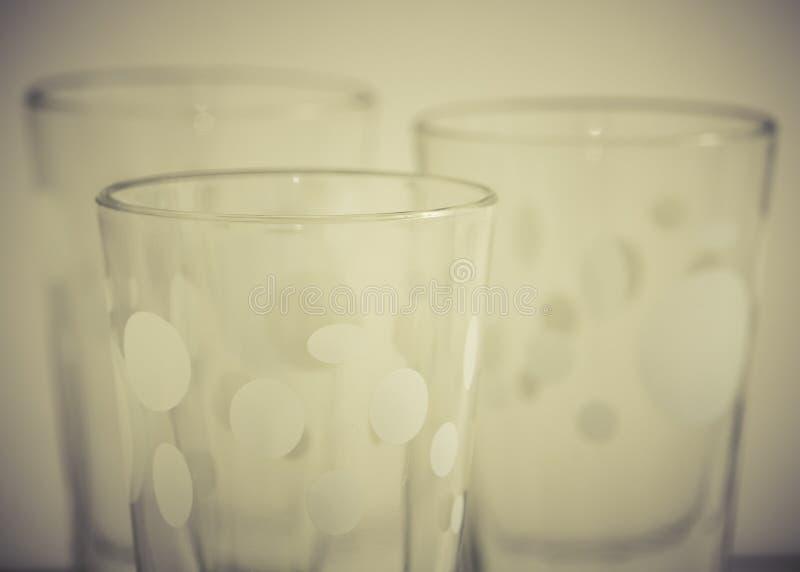 Detail von Glasschalen lizenzfreie stockfotografie