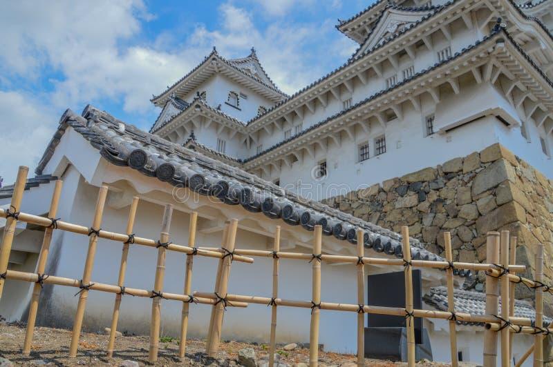 Detail von Himeji-Schloss Japan stockbilder