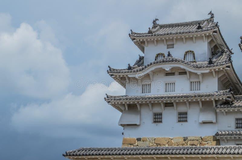 Detail von Himeji-Schloss Japan lizenzfreie stockfotos
