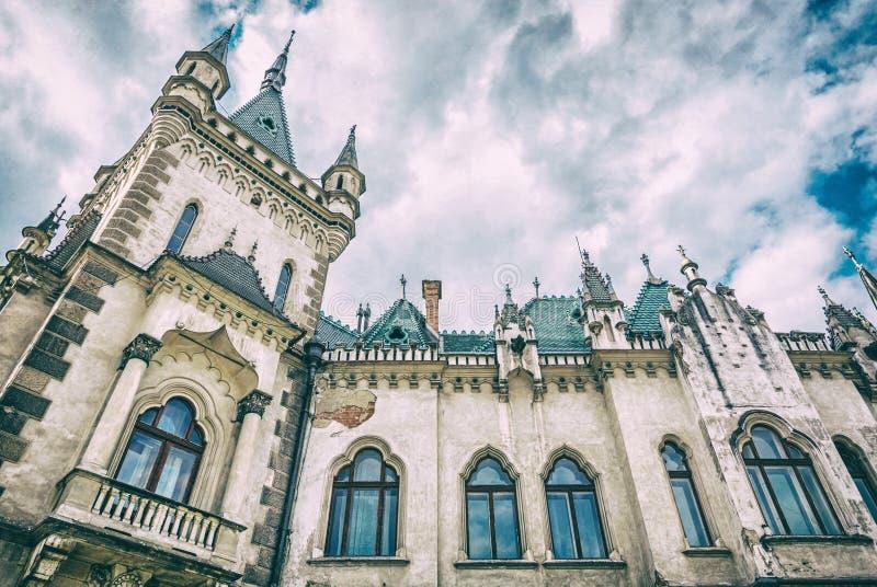 Detail von Jakabs Palast in Kosice-Stadt, analoger Filter stockbilder