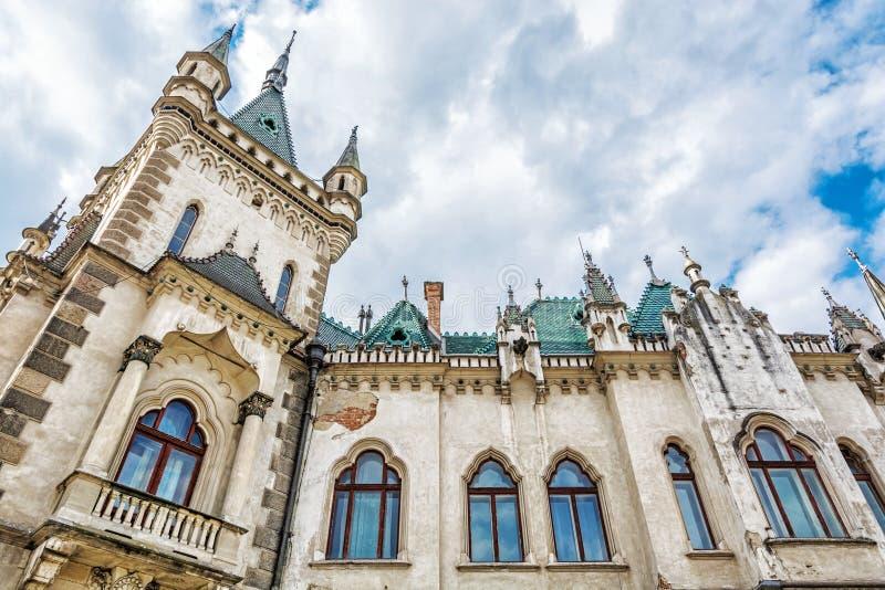 Detail von Jakabs Palast in Kosice-Stadt, Slowakei lizenzfreie stockfotos