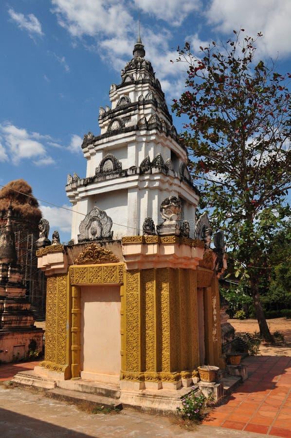 Detail von Lolei-Tempel in Siem Reap, Kambodscha. stockbilder