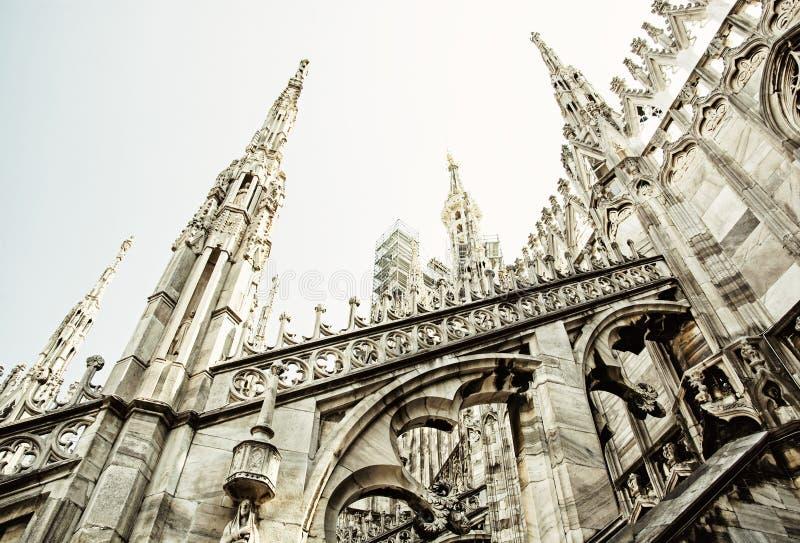 Detail von Mailand-Kathedrale - Duomodi Mailand, Italien, religiöses AR stockbild