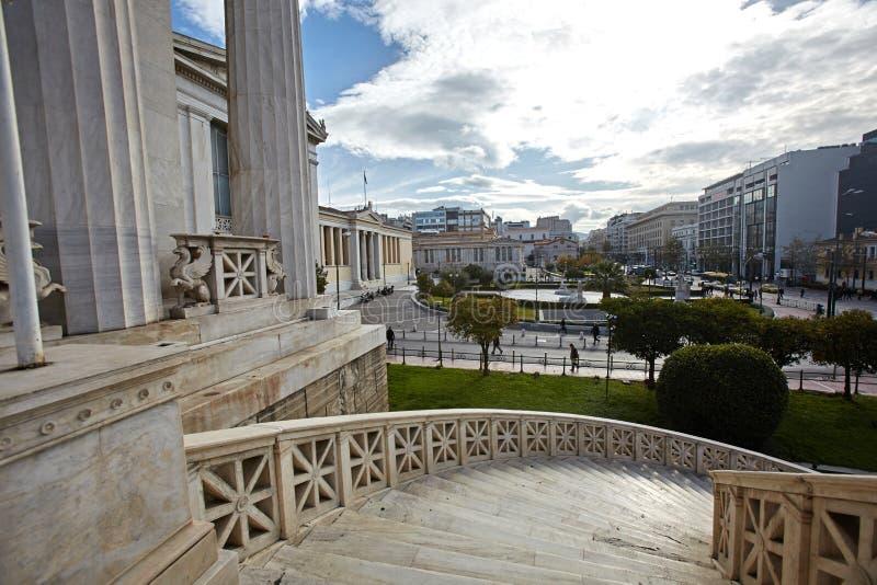 Detail von nationalem lybrary von Griechenland in Athen lizenzfreies stockfoto