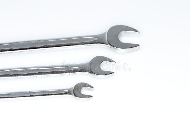 Detail von Schlüsseln eines drei Chroms lizenzfreie stockfotografie