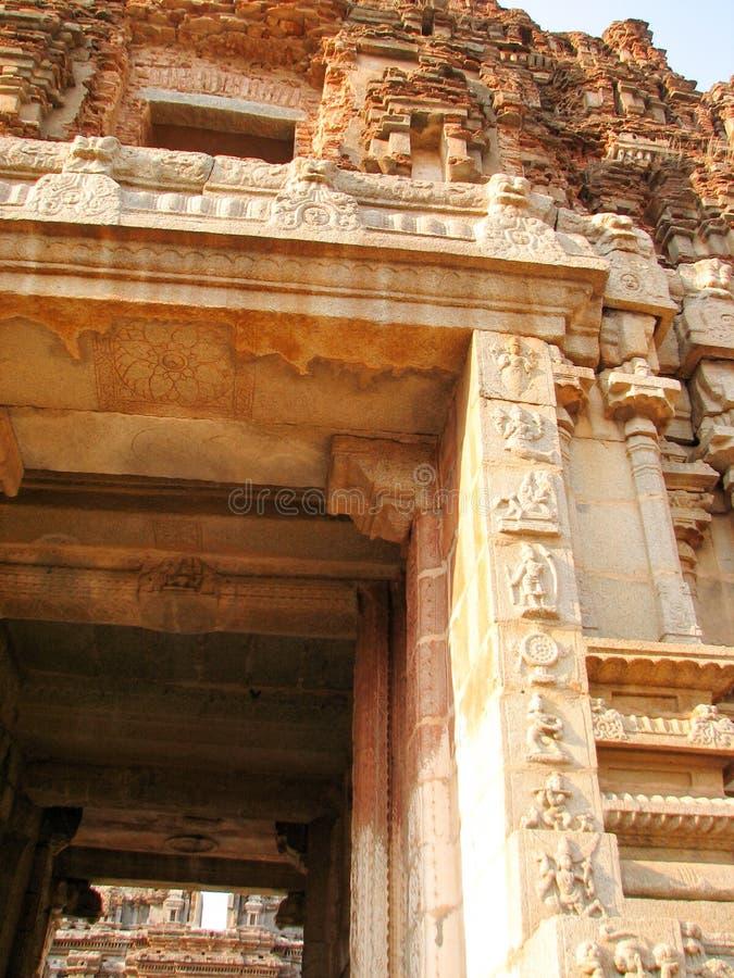 Detail von Shiva-Virupakshatempel stockfotografie